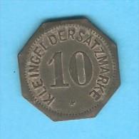 GERMANY---MAINZ City Issue   10 PFENNIG  NOTGELD 1917 - Unclassified