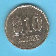 ECUADOR  10 SUCRES 1991 (KM # 92.2) - Ecuador