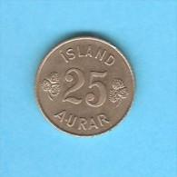 ICELAND  25 AURAR 1967 (KM # 11) - Iceland