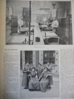 La Fabrication Des Allumettes , Gravure Sgap 1901 Avec Texte / 3 Pages - Documents Historiques