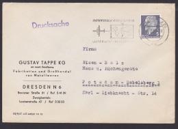 """DDR MWSt. Dresden """"Deutsche Lufthansa Luftfracht In Alle Welt"""" Abb. Propeller-Flugzeug Weltkarte - DDR"""