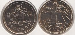 Barbados 5 Cents 2001 Km#11 - Used - Barbados