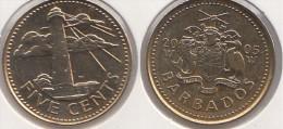 Barbados 5 Cents 2005 Km#11 - Used - Barbados