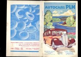 Livret Autocars PLM 1936 Circuits Sud Est ATAM Nice TRAFFOR Grenoble /car Autocar DELAHAYE Carrosserie Bus Faurax Lyon - Trasporti