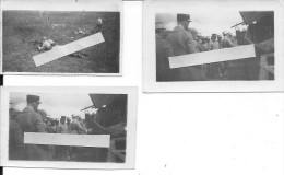 1921 Saumur Fontevrault E.O Du Châtelet Tir Au FM 24/29 Char Renault FT17 Mitrailleuses 3 Photos 14-18 1914-1918 Ww1 Wk1 - War, Military