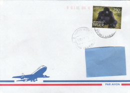 Z3] Enveloppe Cover NIGER Gorille Gorilla Beringei Beringei - Gorilles