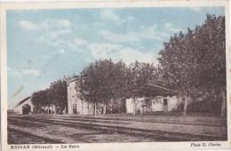 34 BESSAN  Belle CPA Colorisée  PHOTO Charles  Intèrieur De La GARE  QUAIS  Ligne De Chemin De FER  Timbré 1946 - Non Classés