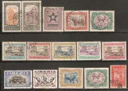 15 Timbres Du Libéria - Liberia
