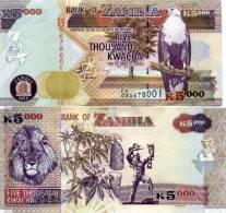 ZAMBIA 5000 Kwacha 2010 P-NEW UNC - Zambie