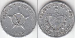 CUBA 5 Centavos 1968 KM#34 - Used - Cuba
