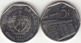 Cuba 5 Centavos 1994 KM#575.1 - Used - Cuba