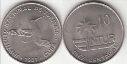 CUBA 10 Centavos 1981 KM#415.1 - Used - Cuba