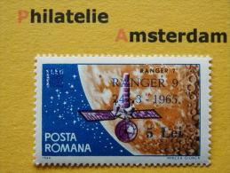 Romania 1965, RANGER 9 OVERPRINT / SPACE RUIMTEVAART ESPACE: Mi 2395, ** - Ruimtevaart