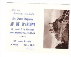 Calendrier 1962 AU DE D'ARGENT ( St Nazaire)  (PPP078) - Petit Format : 1961-70