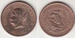 Messico 5 Centavos 1943 Km#424 - Used - Messico