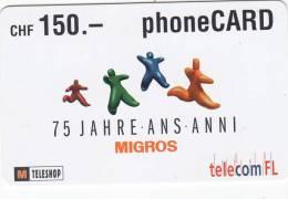 LIECHTENSTEIN - Telecom FL Prepaid Card CHF 150, Exp.date 05/03, Used - Liechtenstein