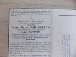 Doodsprentje Anna Maria Van Mullem De Klinge 18/6/1908 Antwerpen 30/8/1945 ( Louis Cuypers ) - Religione & Esoterismo