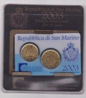 SAN MARINO, DITTICO  2003 (20 + 50 Cent Centesimi Di Euro) - San Marino