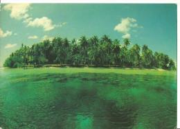Maldives (Maldive) - Isola Disabitata, Panorama (L6) - Francobolo Con Costumi Nazionali - Maldives
