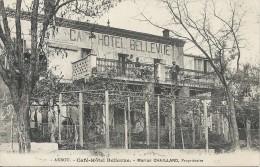AKBOU. CAFE HOTEL BELLEVUE. MARIUS CHAILLARD PROPRIETAIRE - Algérie