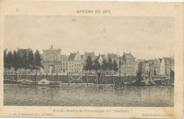 """Anvers En 1877 - Vue Du Werf Et Du Débarcadère Dit """"Veerdam"""" - Antwerpen"""