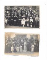 7642 - Lot De 2 Cartes Photos à Identifier - Cartes Postales