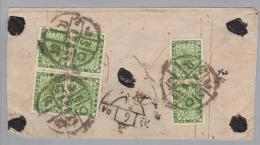 Nepal 1935+ Brief Mit 4P Grün 2er + 4er Block - Népal