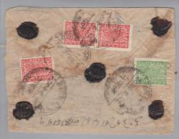 "Nepal 1941? R-Brief 4P.grün + 3x 8P ""rosa"" - Népal"