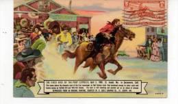 The First Ride Of The Pony Express - Indios De América Del Norte