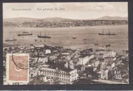 6958-CONSTANTINOPLE-VUE GENERALE DU PORT-1925-FP - Storia Postale