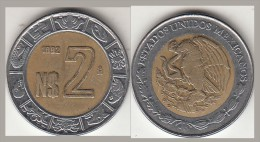 Messico 2 Pesos 1992 Bimetallica Km#551 - Used - Messico