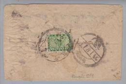 Nepal 1914 Rangeli Brief Mit 4 P. - Népal
