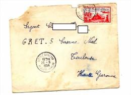 Lettre Cachet Hegenheim 1954 Sur Liberation - Marcophilie (Lettres)
