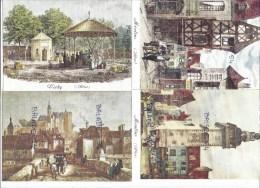 """3 CPM - ALLIER (03) Cartes Toilées - Vichy, Moulins X 2 Et Montlucon (3 """"au Temps Jadis"""") - Non Classés"""