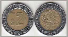 Messico 2 Pesos 2002 Bimetallica Km#604 - Used - Mexique