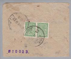 Nepal 1944 Birgang Brief Mit 4 P. Grün Paar - Népal