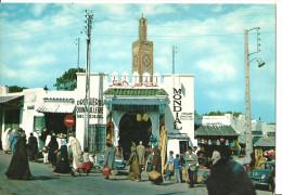 Tanger, Tangeri (Maroc, Marocco) Grand Socco - Gran Mercato, Animata, Droguerie - Halles