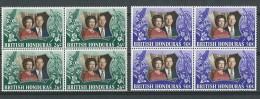 Honduras Brit:  296/ 297 **  Blocs De 4 - British Honduras (...-1970)