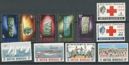 Honduras Brit:  183/ 184 + 286/ 290 + 298/ 301 ** - British Honduras (...-1970)