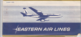 LOT DE 2 BILLETS D´AVION AVEC POCHETTE ET TICKET EMBARQUEMENT EASTERN AIRLINES / NEWARK MONTREAL NEWARK - Billets D'embarquement D'avion