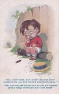 """Carte 1920 Signée Donald Mac Gill : """"non Je Ne Suis Pas Malade .."""" (cigare) - Mc Gill, Donald"""