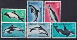 Falkland Islands. Dolphins. 1980. MNH Set. SCV = 4.00 - Dolphins