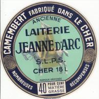 ETIQUETTE FROMAGE / CAMEMBERT - ANCIENNE LAITERIE JEANNE D'ARC Dans Le CHER - Cheese