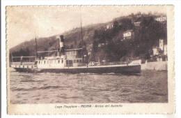 Meina, Arrivo Del Battello  - F.p. - Anni ´1910/1920 - Novara