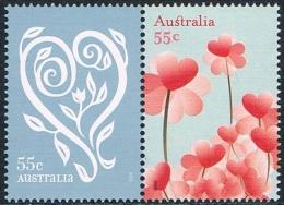 Australie - Timbres De Messages, Coeurs 3022/3023 ** - 2000-09 Elizabeth II