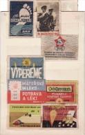 Boites D'allumettes-etiquettes, Labels Czechoslovakia 1945-58 Army Betterave Milk Production De Sucre Sugar Beet - Boites D'allumettes - Etiquettes