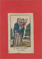 Image Religieuse - Image Pieuse Ancienne - Holycard - Santino - 5,8 Cm  X  9,2 Cm - Images Religieuses