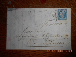BE_34_n°14 Sur Lettre De Paris A Voir!! - 1849-1876: Periodo Classico