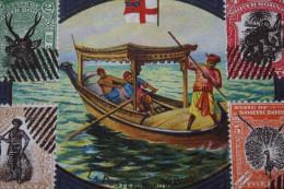 BORNEO SUMATRA >EL CORREO-POST OFFICE-DIE POST-DOAR-LA POSTE,FACTEUR,COURRIER,MAIL IN WORLD/MONDE CHROMO/IMAGE - Picture Cards