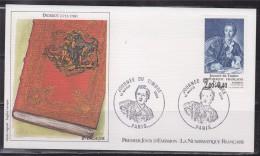 Journ�e du timbre 1984 Enveloppe 1er jour Paris 17.3.84 n�2304 Diderot, par Van Loo, mus�e du Louvre